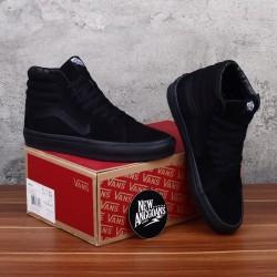 Sepatu Vans SK8 HIGH Full All Triple Black Hitam - PREMIUM Original