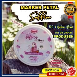 masker saffron safron masker wajah saffron petal organik face mask