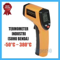 Thermometer Infrared Digital Termometer IR Infra Red Laser Thermo Gun - Kuning