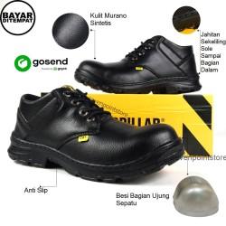 Sepatu Proyek-Sepatu Safety-Sepatu King-Sepatu Kerja Termurah - 39-43 - Hitam, 42