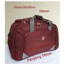 Tas Pakaian Travel Bag Polo Interclub 56x30x36 ukuran besar 100%ori - Merah
