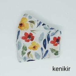 Masker Kain 3 lapis /motif bunga cerah Seruni Living
