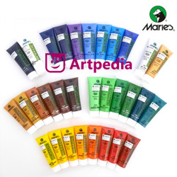 Maries Acrylic Colour 30ml / Cat Acrylic Maries / Cat Akrilik Maries - ORANGE YELLOW