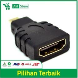 Micro HDMI male to HDMI female adapter konektor sambungan