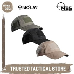 Topi Tactical Molay AERO Tactical Cap MKII Topi Molay Baseball Cap - Black