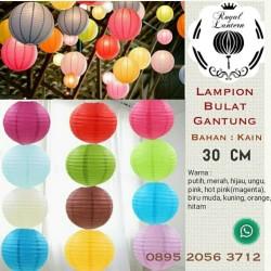 Fabric hanging lantern/ lampion gantung kain 30cm