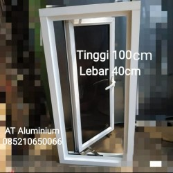 jendela aluminium 40x100 murah harga grosir