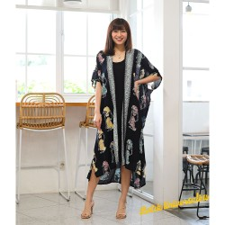Long Kimono Outer Batik Modern. Long Cardigan Jumbo Big - Wayang Rnb
