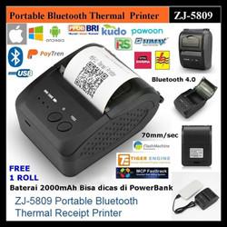 MOBILE PRINTER BLUETOOTH THERMAL RECEIPT PPOB/KASIR 58MM IWARE ZJ-5809
