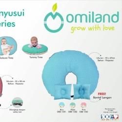 Omiland Bantal Menyusui Cube Series OBB1581 free bantal lengan - Biru