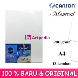 Canson Montval A4 200gsm 12 Sheet - Watercolour paper Montval A4