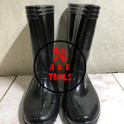 Sepatu Boot JEEP Karet Hitam / Sepatu Boot Anti Banjir / Sepatu Proyek