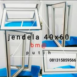 jendela aluminium warna PUTIH casement bouvenli murah promo - Putih