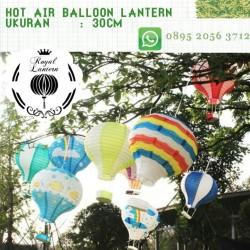 Hot air balloon lantern Lampion balon udara gantung kertas