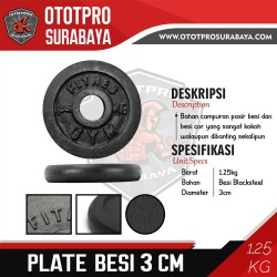 [3 CM] Plate Barbell Besi 1,25 KG /Iron/Lempengan/Beban/Barbel/Dumbbel