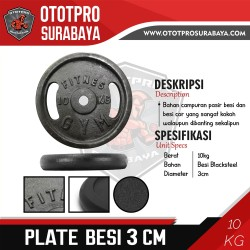 [3 CM] Plate Barbell Besi 10 KG /Iron/Gym/Fitness/Lempengan/Dumbbell