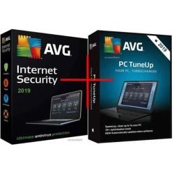 Paket AVG Internet Security dan AVG PC TuneUP 1 PC 2 Years. Original