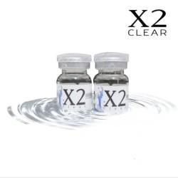 Softlens X2 CLEAR Bening Tahunan Minus 1 Botol (setengah pasang)