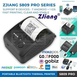 PRINTER KASIR BLUETOOTH 58MM THERMAL ZJIANG-5809 PRO SUPPORT 8 DEVICES