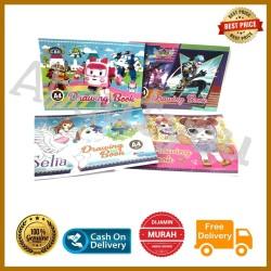 Buku GAMBAR Anak A4 buku coret sketsa karakter lucu murah