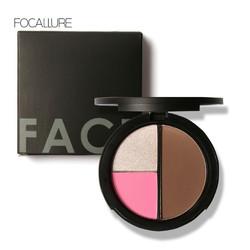 (BPOM) FOCALLURE FA20 Three Colors Bronzer | Blush Highlight & Contour - FA20-02