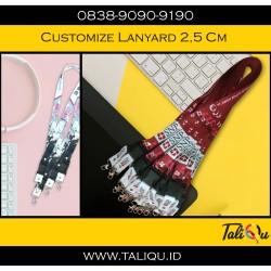 tali id card / lanyard promosi ( print ) 2,5 cm