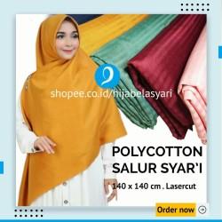 Hijab Jilbab Kerudung Cantik Syari Hijab Segi empat Polycotton Salur