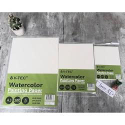V-TEC WATERCOLOR PAPER A5 300GSM/COLD PRESS