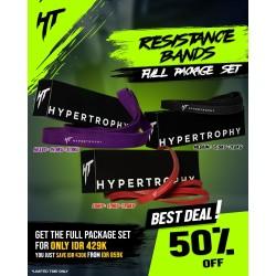 Paket Hemat Fitness Resistance / Power Band - Red, Black, Purple