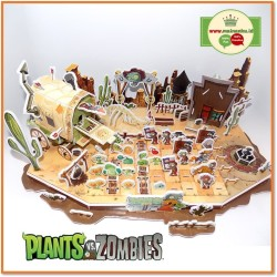 "Puzzle 3d Big Size | PLANT VS ZOMBIES ""Wild West Adventures"" 