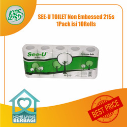 Tissue SEE-U TOILET Non Embossed 215s 1Pack isi 10Rolls