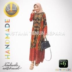 Jual Gamis Wanita Muslimah Full Tenun Blanket Batik Troso Jepara Kab Jepara Istana Tenun Jepara Tokopedia