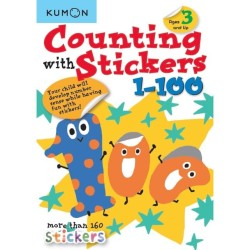 Buku Anak - Kumon - Counting with Stickers 1-100