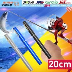 [BARU Spinning Reel] Joran Pancing Alat Aluminium Mini Pen Fishing Rod