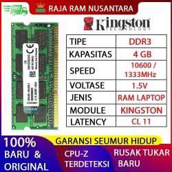 RAM LAPTOP KINGSTON DDR3 4GB 10600/1333MHz ORI RAM SODIMM 1.5v 4GB