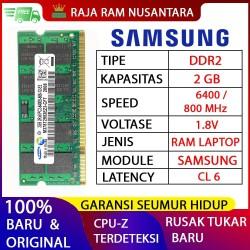 RAM LAPTOP SAMSUNG DDR2 2GB 6400/800MHz ORIGINAL RAM SODIMM 1.8v 2GB