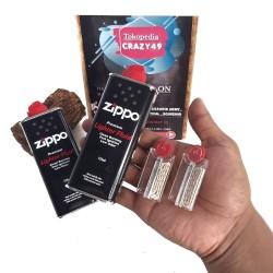 Minyak Zippo / Batu Zippo Star Plus Sumbu / Minyak Zippo 125 Set Batu