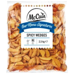 Mccain Potato Wedges Spicy - Fries/ Kentang Goreng 2,5Kg