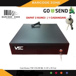 MINI CASH DRAWER / LACI KASIR / VSC CD-330 RJ- 11 (37 x 33 Cm )