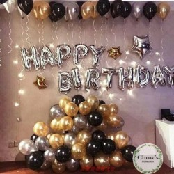 Paket Dekorasi Balon Ulang Tahun / Happy Birthday Silver 03