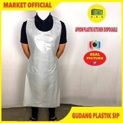 Apron Celemek Plastik LDPE Export Quality ( Single Use )