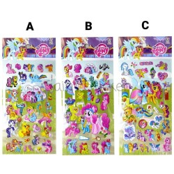 Gambar Tempel Sticker Timbul Stiker Anak Karakter Kartun Little Pony