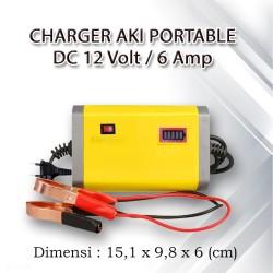 Charger Aki Portable DC 12V 6A