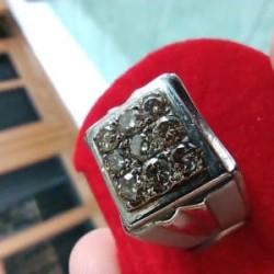 Cincin Perak Berlian