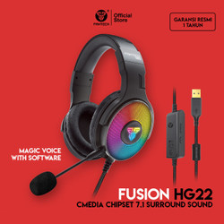 Fantech FUSION HG22 CMedia Chipset 7.1 Surround Sound Headset Gaming