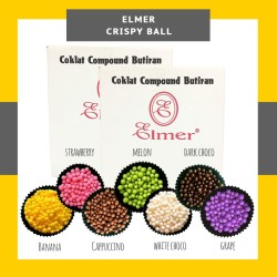 CRISPY BALL ELMER 100GR - TOPPING DONAT PISANG COKLAT NUGGET - CAVIAR
