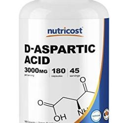 Nutricost D-Aspartic Acid (DAA) Capsules 3000mg Per Serving (180 Capsu