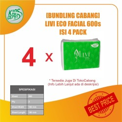 [BUNDLING CABANG] Tissue LIVI ECO Facial Refill 600s isi 4Pack