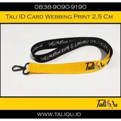 Tali Id Card Webbing Print ukuran 25mm