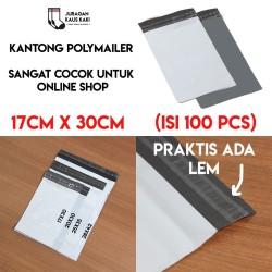 Packaging Plastik Polymailer 17x30 Amplop Kantong Kemasan isi 100 pcs